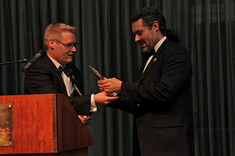 Receiving award for Best Tutorial at Eurostar 2012